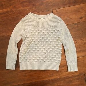 Gap Gray Girl's Cable Knit Sweater Size XSmall